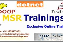 msr trainings / MSR Trainings is a leading training institute offering job oriented trainings on Software Testing (Manual Testing), Testing Tools, Selenium, java, sap, .net, Oracle DBA, Hadoop , TIBCO at Hyderabad, Bangalore & Online