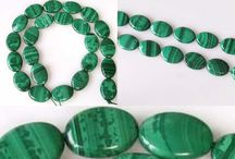 Stone Beads > Malachite Beads / Natural Malachite Beads in a variety of shapes and sizes.