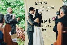 Ceremony & Aisle Adornment / Ideas for embellishing the all important ceremony site.