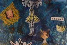 Bizarre art / Quirky mixed media pictures