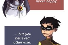 Raven and Dick Grayson