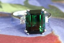 Tourmaline Finds / One of a kind estate, vintage & antique tourmaline jewelry from Jewelry Finds®!!!
