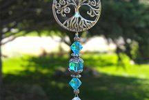 sun catchers and wind chimes
