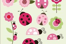 Lady bugs & butterflies