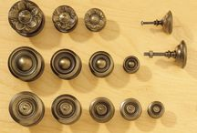 Sheraton Hardware / Also known as Federal brasses, Sheraton knobs are stamped, hollow knobs formed around a conical base. The complexity of a stamped face can be stunning and Sheraton's designs celebrated the ability of fine tool makers to carve minute detail in steel and then press that detail into soft brass.