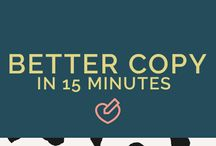 Copywriting Tips + Inspiration / Copywriting tips, online copywriting, online copy, internet schrijven, webpagina's, salespagina's, sales copy, sales teksten, landingspagina's, opt-ins, opt-in pagina's.