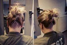 Hair undercut women