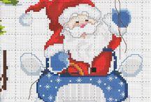 punto croce Natale