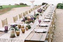 Wedding:  Plum and Gray Rustic