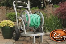 Model 1200 Two Wheel Hose Cart! / New for 2014! This stylish two wheel hose cart keeps your garden hose neat and ready to use! #gardening #diy #home #lawn #water #hosecart #lgphosestorage