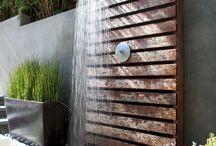 sprcha v zahrade