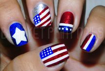 4th of July nails / by Wendy Mirabella