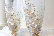 свадебные бокалы.Дизайн