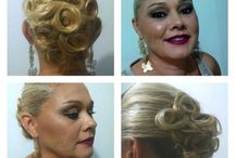 Penteados e Maquiagens / Fotos de penteados e maquiagens feitos por mim.