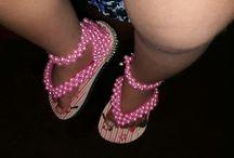 sandálias  decoradas