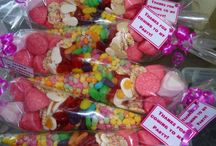 CANDY CONES BY SWEET MEMORIES BRADFORD / all my cones are £1.50 each and can be collected in store or sent via courier.  Each cone comes with its own personalied gift tag, ribbon and colour coordinated sweets where possible.