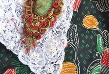 Combination of Soutache and Batik