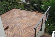 Garage roof deck