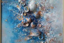 conchas y mar
