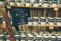 Wedding coffee bars and stations / Inspirational ideas on how to create a coffee bar for a special event.
