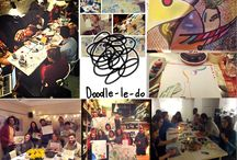 Doodleledo get togethers / We've all been drawing as kids. So how about come back to it with a bunch of  new people to nibbles, good music, drinks, funky space and have fun.  No Doodleledo in your city yet? Start your own! Get in touch.  Powered by Natalka Design  Running in: London, Dublin, 3City, Dordrecht, Nairobi, Milwakuee, Toronto, Paris, New York, Atlanta