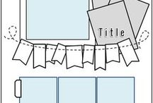 Scrapbook sketch layouts