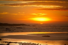 """Sunset / """"Clouds come floating into my life, no longer to carry rain or usher storm, but to add color to my sunset sky"""" ~ Rabindranath Tagore  / by Novira Camelia"""