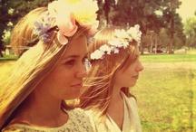 Hair / Flowers and hair. Hair and flowers.