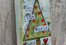 Mixed Media Christmas Projects / Mixed media Christmas, winter, holiday projects