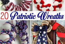 Red White and Blue / Patriotic Crafts and Recipes for July 4th and Memorial Day