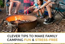 Camping safety / Safety tips for families camping together. Kids safety, fire safety, wildlife safety and survivial rules.