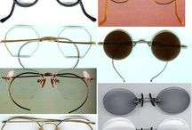 Eyewear through the ages / Eyewear, spectacles, frames from 1920's, 1930's, 1940's, 1950's, 1960's, 1970's, 1980's