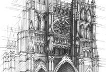 건축 스케치