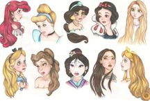 Disney Princess Art / by Debra Bays