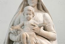 Madonna with child sculpture