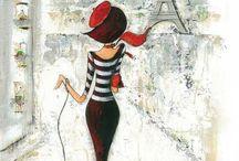 peinture originale; Tour Eiffel parisienne