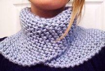 Neckwarmers, cowls & scarfs