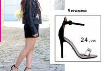 Erasma 24,99€ || υναικεία Πέδιλα με Μπαρέτα Μαύρο - Ασημί