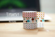 taśmy ozdobne / washi and craft tape