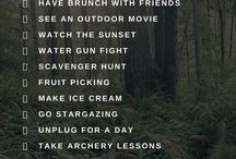 Stuff to do in summer