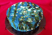 Tartas Artísticas Pintadas / Estas Tartas han sido pintadas a mano con diferentes técnicas, siempre con colorantes comestibles. Una forma de llevar el arte a la mesa.
