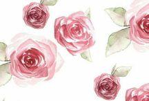 Rosas vintage fondo cel