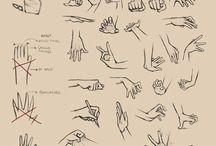mãos de manga