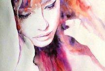 watercolor homo sapiens