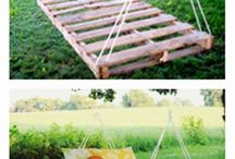 DIY / Outdoor Pallet Bed
