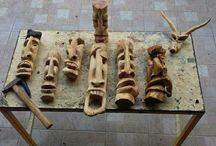 sculture in legno fatte a mano