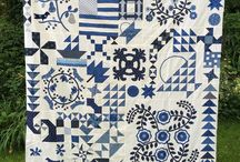 Blue and White quilts