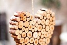 drevené letokruhy srdce