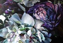 flower paintings oil