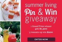 Food and Wine Summer Living / by Beth Klocinski Stevens